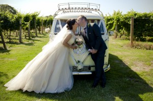 Highdown Vineyard - Bride and Groom camper van