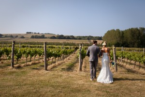 Highdown Vineyard - Happy couple